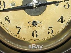 02c38 Ancienne Horloge Mural Bulle Clock Art Déco 1930 Industriel Loft Usine