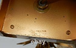 1950/70 Paire de Lampes Aux Roseaux en Laiton et Bronze Doré Signées Charles