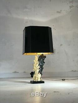 1970 CHEVERNY LAMPE MODERNISTE BAUHAUS SPACE-AGE SHABBY-CHIC Jansen BRUTALIST