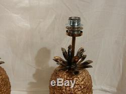 1970' Paire de Lampes Ananas