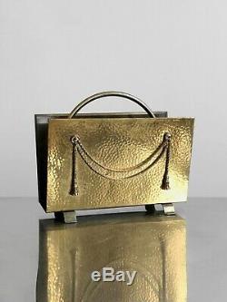 1970 Porte-revue Art-deco Moderniste Shabby-chic Bronze Empire Neo-classique