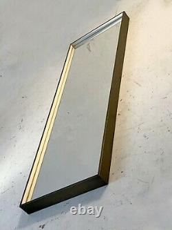 1990 GRAND MIROIR ART-DECO MODERNISTE BAUHAUS CONSTRUCTIVISTE Shabby-Chic Bronze