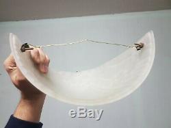 2 Appliques art deco en verre moulé boule laiton joma paire d applique
