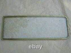 85 X 31,5 cm Ancienne fenêtre de bateau, cadre en laiton, décoration