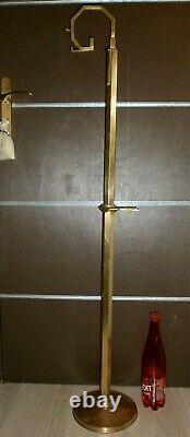 ANCIEN SUPPORT POUR ENCENSOIR ART DECO /LAITON OU BRONZE/H. TOTALE 126 cm/MESSE