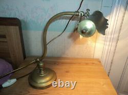 ANCIENNE LAMPE DE BUREAU BRONZE LAITON ART DECO/nouveau 1900 PIANO