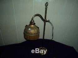 ANCIENNE LAMPE DE BUREAU NOTAIRE BANQUIER LAITON 1900 art deco/nouveau