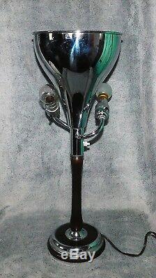 ANCIENNE LAMPE TORCHERE ART DÉCO ROBERT MALLET STEVENS JM à LEVALLOIS. ANNEES 30