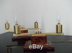 ART DECO paire de lampe à poser style moderniste, Bauhaus