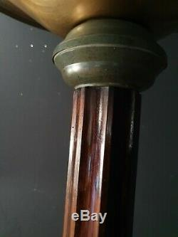 Ancien LAMPADAIRE EPOQUE ART-DECO macassar laiton VERS 1930