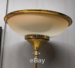 Ancien Lampadaire Art-Déco en laiton esprit marine années 40
