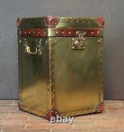 Ancien Style Laiton Occasionnel Côté Table Coffre