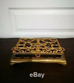 Ancien Vintage Magnifique Repose Lettre En Laiton Réglable Art Déco Porte Tablet