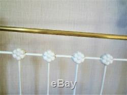 Ancien lit de poupée fonte laiton poupée 71 cm dinette meuble poupée ART DÉCO