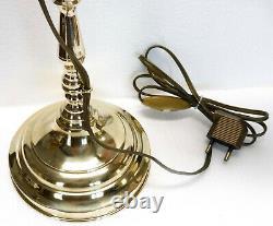 Ancienne LAMPE de bureau télescopique orientable art-déco laiton pâte de verre