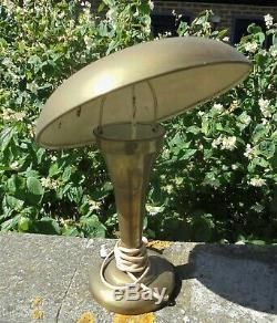 Ancienne Lampe Champignon En Laiton Epoque Art Deco