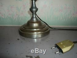 Ancienne Lampe De Bureau Notaire Banquier Laiton 1900