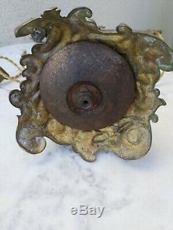 Ancienne Lampe En Bronze Et Laiton Art-deco
