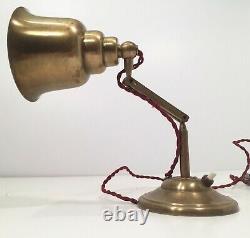 Ancienne Lampe en laiton Art Deco Brass Table Lamp Alte Tischlamp 1920 1930