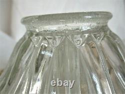 Ancienne Lampe signée HOLOPHANE grosse tulipe verre moulé pressé laiton massif