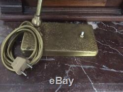 Ancienne Magnifique Lampe De Bureau Tout En Laiton Très Design Pivotante