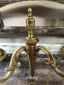 Ancienne Paire Applique Empire Lucien GAU PARIS Bronze Doré Carquois Vintage