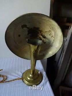 Ancienne Paire De Lampe Champignon En Laiton Epoque Art Deco 1920-1930