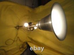 Ancienne lampe L. MALABERT, laiton et alu, 3 feux, design vintage, reglable, art déco