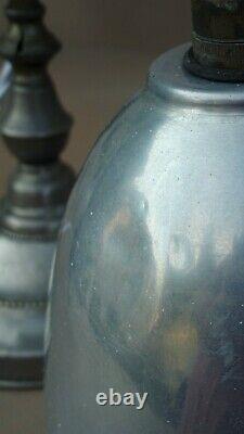 Ancienne lampe de bureau MONIX articulée hauteur réglable laiton nickelé déco