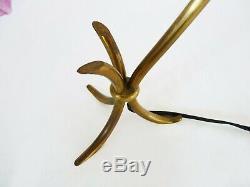 Ancienne lampe de table tripode Art Déco Moderniste à tête pivotante