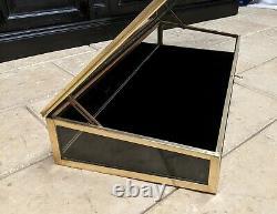 Ancienne vitrine en laiton meuble à poser présentoir magasin collection bijoux