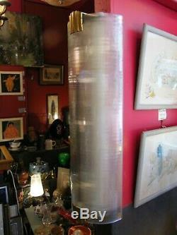 Applique Murale Art Déco en Verre et Laiton 65 cm