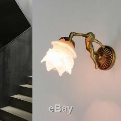 Applique Murale Luminaire Echt-Messing Bronze Fait à la Main Déco Chérubin Art