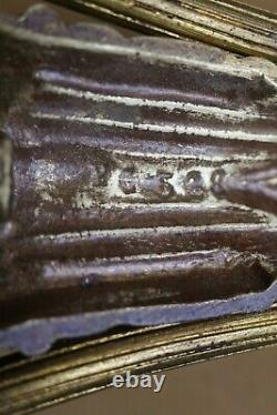 Applique bronze laiton décor fleurs stylisées Art Déco P. Gilles Era Muller