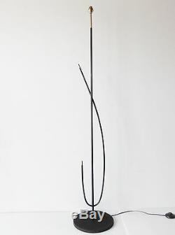 Arlus Magnifique Lampadaire Virgule Vintage 1950 Rockabilly 50s Floor Lamp