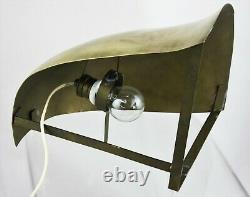 Art Déco Applique Murale Projecteur en Laiton Lampe D'Angle Mural Lampe