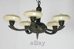 Art Déco Lampe Plafond Lustre Bauhaus Plafond Lampe Verre en Laiton (5951)