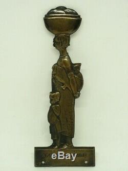 Art Deco Medaille Plaque En Laiton Anna Quinquaud Edite Par La Gerbe D Or