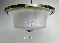 Art Déco Plafonnier en Laiton Lampe Plafond Lampe Plafonnier