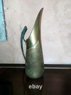 Art déco art nouveau pichet verseur Signé V. Mugaritz laiton bronze Brass