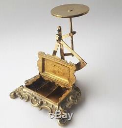 Balance Pèse-lettre Boîte de Timbres Bronze en Laiton Post-Taube France Um 1900