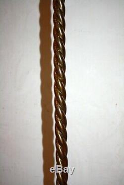 Beau lampadaire art déco en laiton bronze doré torsadé C1920 floor lamp