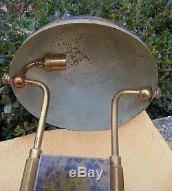 Belle Lampe Art Deco 1930 Laiton Et Metal Patine D2609