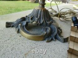 Belle Lampe Sur Pied En Bronze Et Laiton Tulipe Muller Freres Luneville