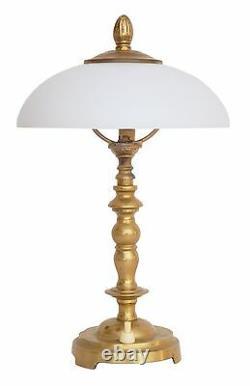 Belle Mignonne Art Nouveau Shabby Chic Lampe de Chevet en Laiton