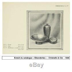 Bonbonnière Luc Lanel Christofle & Cie Dinanderie Vers1930