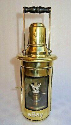 Brass Ship's Binnacle Lantern jolie lanterne en laiton anglaise 1910