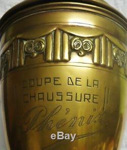 COUPE DE FOOTBALL ART DÉCO & CHAUSSURES PHÉNIX vers 1930-40 rf D2088