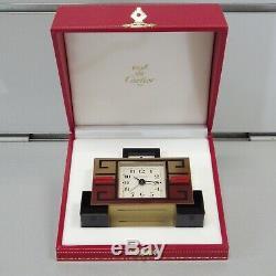 Cartier Art Déco Table Clock Laiton Rare Pendule de Table