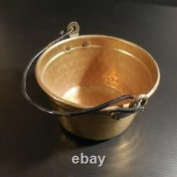 Chaudron miniature métal cuivre laiton vintage design art déco maison N4618